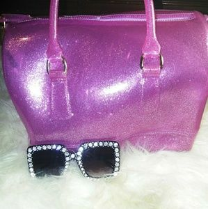 Handbags - 🆕Glitter Jelly Satchel Bag